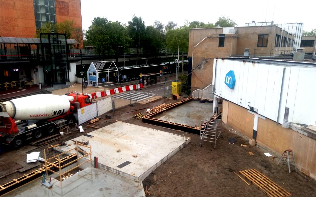 Begane grondvloer nieuwbouw Stationsplein Scholver gereed