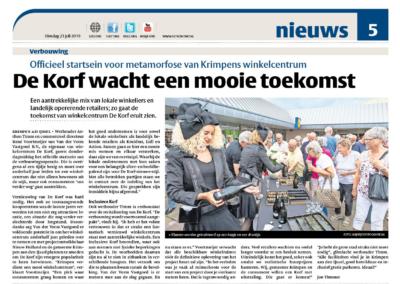 Krantenbericht de Korf