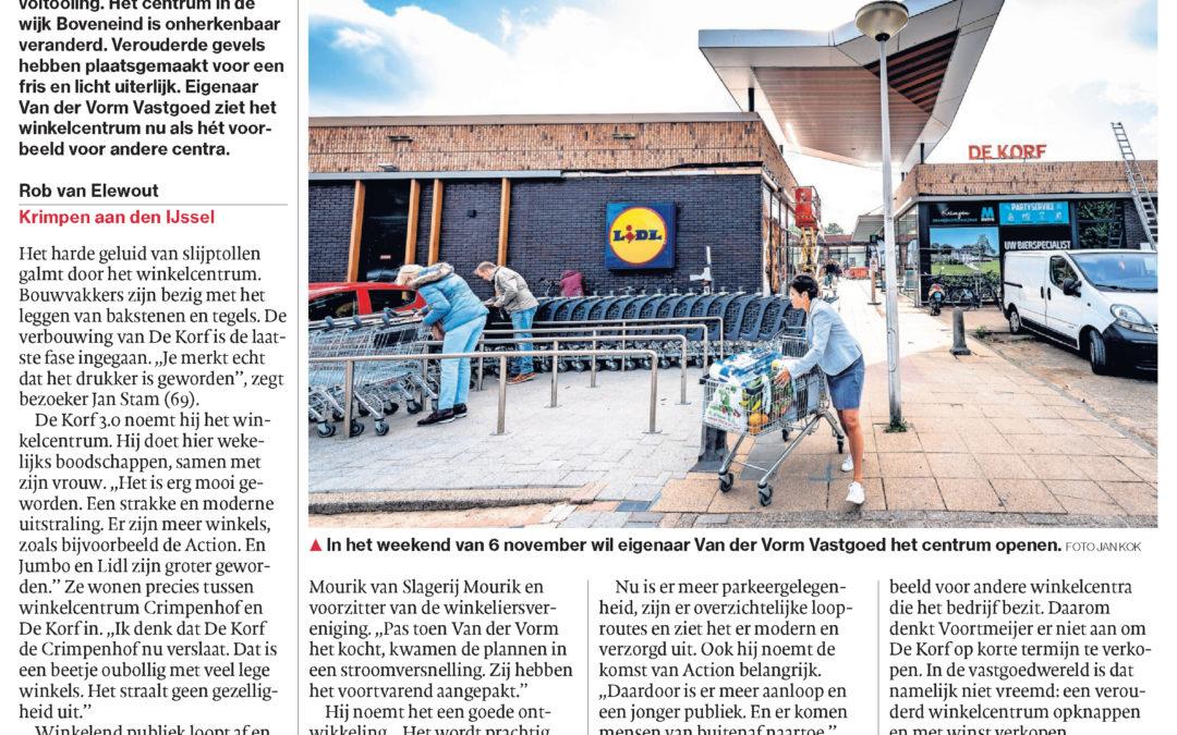 Winkelcentrum de Korf nadert voltooiing